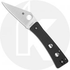 Spyderco Watu Knife C251CFP - 20CV Modified Clip Point - Carbon Fiber / G10 Laminate Handle - Compression Lock