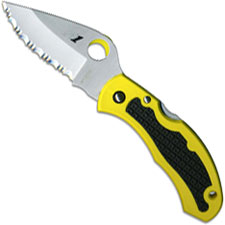 Spyderco Snap-It Salt Knife, Serrated, SP-C26SYL