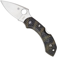 Spyderco C28ZFPGR2 Dragonfly 2 Knife Zome Green FRN EDC Lockback Folder