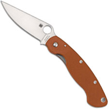 Spyderco Military C36GPBORE CPM REX 45 Sprint Run Burnt Orange G10 USA Made
