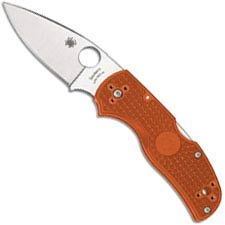 Spyderco Native 5 Lightweight C41PBORE5 - REX 45 Blade - Burnt Orange FRN Handle - Sprint Run - USA Made