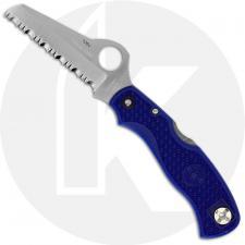 Spyderco Rescue 79mm Knife - C45SBL - Serrated Sheepfoot - Blue FRN - Discontinued Item - Serial # - BNIB