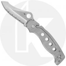 Spyderco A.T.R. Knife - C70PSTI - Part Serrated S30V - Titanium Handle - Discontinued Item - Serial # - BNIB