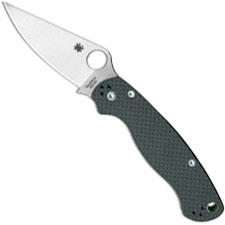 Spyderco C81CF52100P2 Para Military 2 Knife Limited 52100 Blade with Carbon Fiber Handle