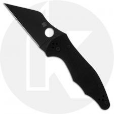 Spyderco Yojimbo 2 C85GPBBK2 - Michael Janich - Black DLC Wharncliffe - Black G10 - Compression Lock Folder - USA Made