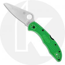 Spyderco Salt 2 Knife - C88FPGR2 - LC200N Drop Point - Green FRN - Lock Back