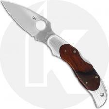 Spyderco Kopa C92CBP - VG-10 Leaf Blade - Cocobolo Inlay Handle - Discontinued Item - Serial Numbered - BNIB
