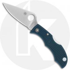 Spyderco Ladybug 3 LFP3K390 - Plain Edge Satin K390 Blade - Blue FRN - Lock Back