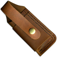 Silver Stag LFSS Leather Snap Sheath for Large Notch Folders USA Made