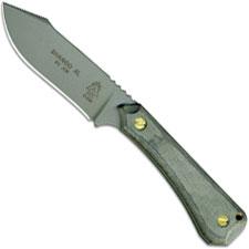 TOPS Knives Shango XL Knife SHGO-XL - Tactical Gray 440C Hunters Point - Black Linen Micarta