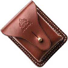TOPS Knives Bushcraft Pouch SHLLBP-01 Brown Leather with Vertical and Horizontal Carry Belt Loop