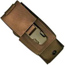 Timberline Folding Knife Sheath, Coyote Tan Cordura, TM-20030