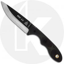 TOPS Knives Mini Scandi MSK-GB - Leo Espinoza - Neck Knife - Black Traction Coat 1095 - Green / Black G10