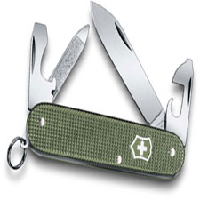 Victorinox 0.2601.L17 Cadet Knife Limited Edition Olive Green Alox 9 Function Multi Tool