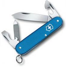 Victorinox Cadet Knife - Limited Edition Aqua Blue Alox - 9 Function Multi Tool - 0.2601.L20