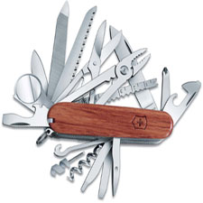 Victorinox 53526 SwissChamp 33 Function Multi Tool with Hardwood Handle