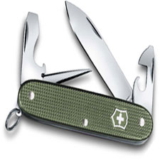 Victorinox 0.8201.L17 Pioneer Knife Limited Edition Olive Green Alox 8 Function Multi Tool