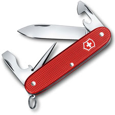 Victorinox 0.8201.L18 Pioneer Knife Limited Edition Berry Red Alox 8 Function Multi Tool