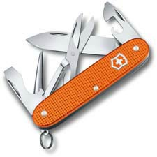 Victorinox Pioneer X Knife - Limited Edition Tiger Orange Alox - 5 Function Multi Tool - 0.8231.L21