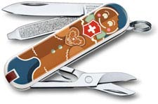 Victorinox 0.6223.L1909US2 Classic SD Limited Edition Gingerbread Love 7 Function Multi Tool