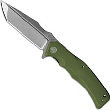 We Knife Company 709B Thraex EDC Liner Lock Flipper Folding Knife Stonewash Green G10