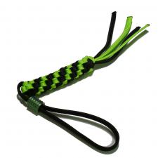 We Knife Company A01A Black and Green Lanyard with Titanium Bead