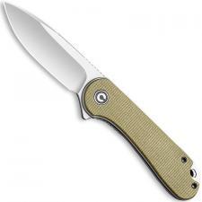CIVIVI Elementum Knife C907S - Satin D2 Drop Point - Olive Micarta - Liner Lock Flipper Folder