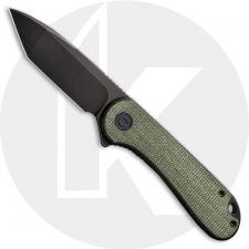 CIVIVI Elementum C907T-E - Black Stonewash D2 Tanto - Green Micarta - Liner Lock - Flipper Folder