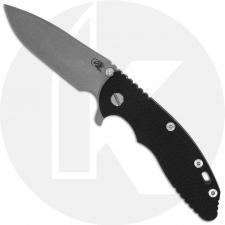 Hinderer Knives XM-18 3.5 Inch Knife - Spear Point - Working Finish - 20CV - Tri Way Pivot - Black G-10 / Working Finish Ti
