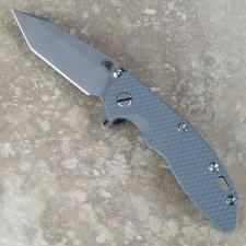 Rick Hinderer XM-18 Fatty Knife 3.5 Inch Working Finish Harpoon Tanto Gray G10 Frame Lock Flipper